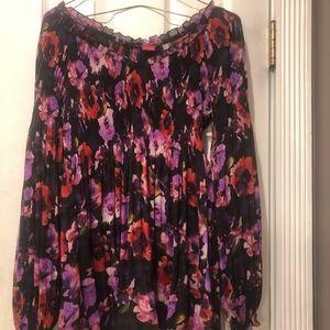 Ladies sunny Leigh floral empire waist blouse